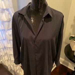 Zara black long sleeve blouse
